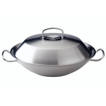 Wok z pokrywką stalową Fissler Original Pro Collection, 35.00 cm