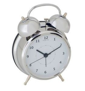 Budzik Wake Up silver, 12,5 cm