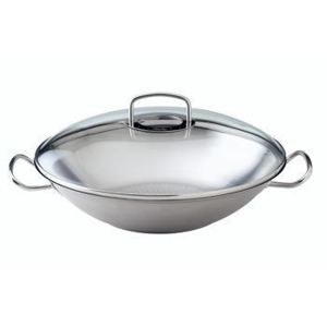 Wok z pokrywką szklaną Fissler Original Pro Collection, 36.00 cm