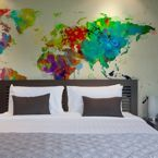 Fototapeta - Paint splashes map of the World