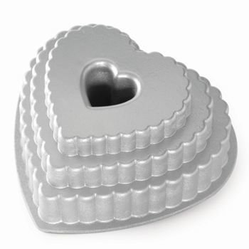 Nordic Ware - Forma do ciasta TIERED HEART