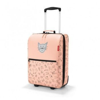Reisenthel - Walizka trolley XS kids cats and dogs rose