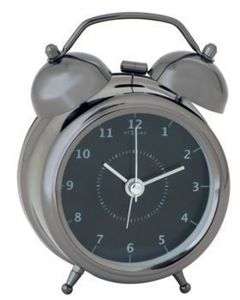 Budzik Wake Up black, 20 cm