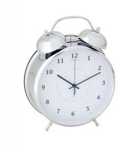 Budzik Wake Up silver, 20 cm