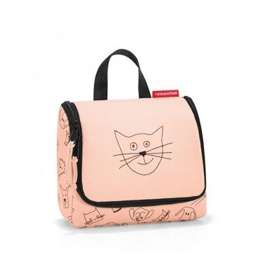 Reisenthel -   Kosmetyczka toiletbag S - kids cats and dogs rose